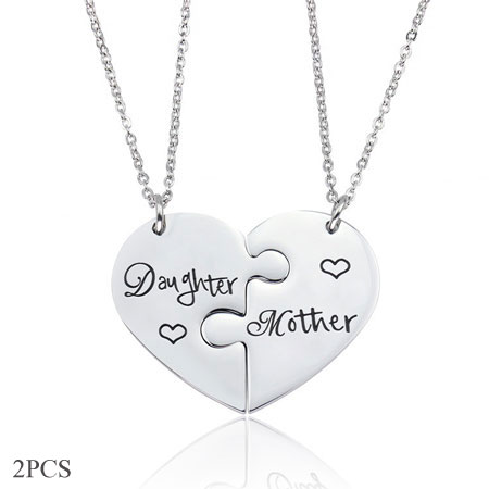 Mommy and me matching V necklace set